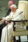 Pope seated