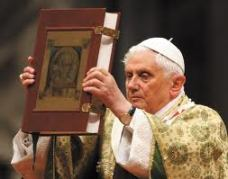 Pope with Book of Gospels