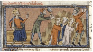Pope Sixtus and companions