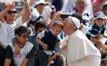 Pope with children