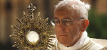 Pope with Eucharist